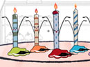 Can-Can Candles Birthday eCards