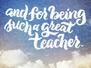 Teacher Appreciation Thank You eCards