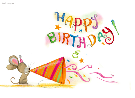 birthday party mouse happy birthday ecard american