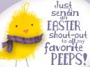 Easter Peeps Postcard Easter Postcards