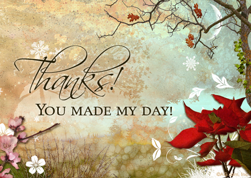 Quot You Made My Day Reply Card Quot Thank You Postcard Blue