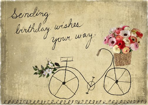 Sending Wishes Postcard Birthday Postcard – Birthday Post Cards