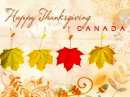 Canada Gives Thanks Postcard Canadian Thanksgiving eCards