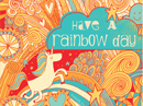 Rainbow Day Postcard Just Because Postcards