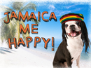 Jamaica Me Happy Just Because Postcards