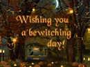 Bewitching Day Postcard Halloween Postcards
