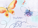 Scatter Joy Postcard Kathy Davis Just Because Postcards
