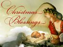 Christmas Blessings Postcard Christmas Postcards