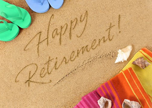 """Happy Retirement Postcard"""" 