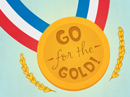 Go for the Gold Postcard Holidays Postcards