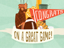 Great Game! Postcard Just Because Postcards