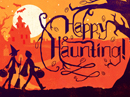 Happy Haunting Postcard Halloween Postcards