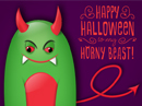 Horny Shout-Out Postcard Halloween Postcards