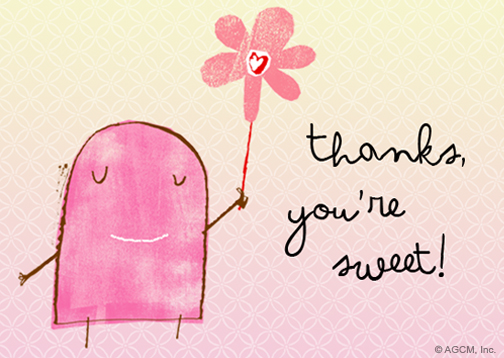 You're Sweet Reply Card"