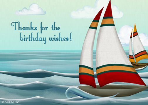 Birthday Wishes Reply Card Thank You Postcard – Birthday Greeting Reply