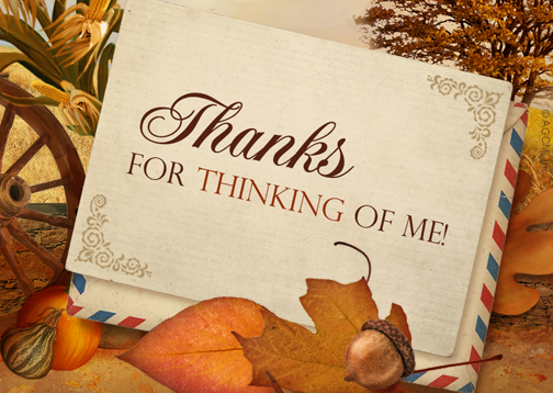 """thanks reply card""  thank you postcard  blue mountain"
