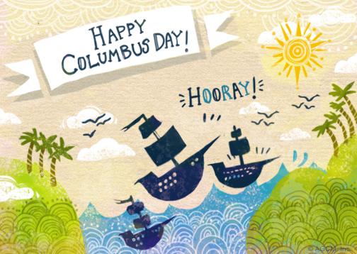 Hooray columbus columbus day ecard blue mountain ecards about postcards m4hsunfo