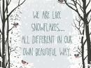 Snowflakes Quote Postcards