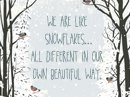 Snowflakes Quote Postcards