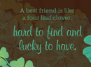 Four Leaf Clover Quote Postcards