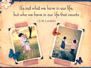 What Counts Quote Postcards