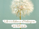 Balance of Life Quote Postcards