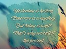 Today is a Gift Quote Postcards