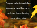 Dancing Leaves Quote Postcards