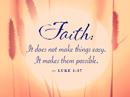Luke 1:37 Quote Postcards