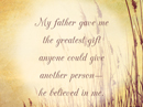 Gift from Dad Quote Father's Day Postcards
