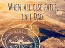 Call Dad Quote Father's Day Postcards
