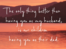 Husband & Father Quote Father's Day Postcards