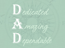 Dad Acrostic Poem Father's Day Postcards