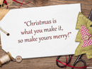 Christmas Merry Quote Christmas Postcards