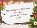 Christmas Traditions Quote Christmas Postcards