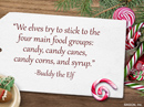 Christmas Meals Quote Christmas Postcards