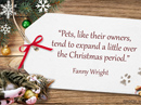 Pet Lovers Christmas Quote Christmas Postcards