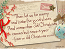 Old Christmas Carol Quote Christmas Postcards