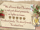 Friends & Family Christmas Quote Christmas Postcards