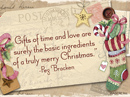 Truly Merry Christmas Quote Christmas Postcards