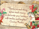 A Very Merry Christmas Quote Christmas Postcards