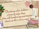 Magical Christmas Quote Christmas Postcards