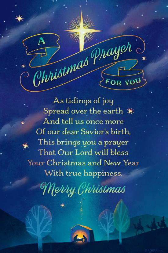 Christmas Prayer.A Christmas Prayer For You Christmas Ecard Blue