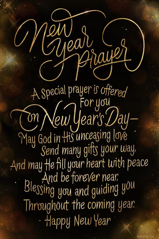 New Year Prayer\