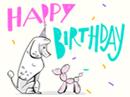 Party Poodle Birthday Birthday eCards