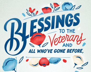 Blessings to the Veterans