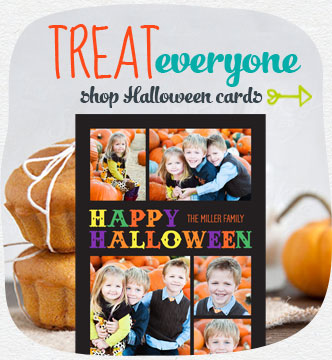 Cast a spell with a custom-made card. Choose from our fun selection of Halloween greeting cards. Shop Halloween cards