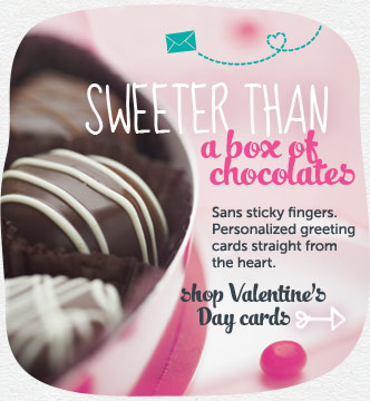 Sweeter than a box of chocolates. Personalized greeting cards straight from the heart. Shop Valentine's Day cards