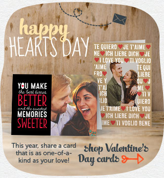 This year, share a card that is as one-of-a-kind as your love! Shop Valentine's Day cards