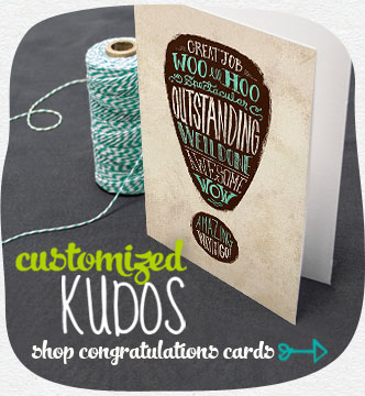 Send a well-deserved shout out with a custom card worthy of their accomplishment. Shop congratulations cards